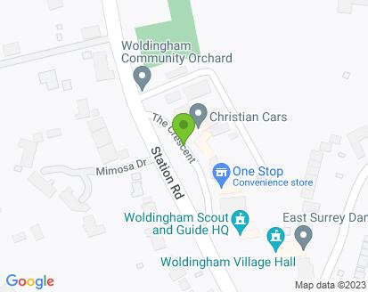 Map for Christian Cars Ltd