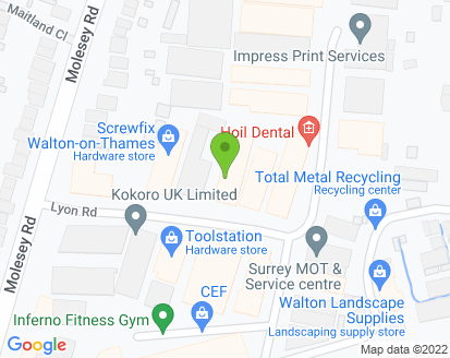 Map for Hersham Service Station