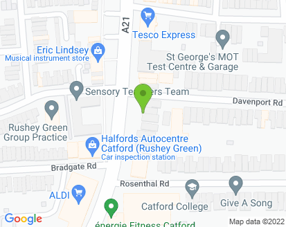 Map for Hawstead Garage and Rushmores