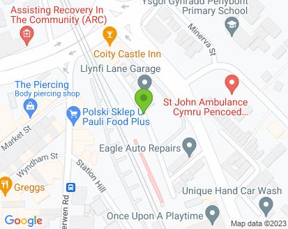 Map for Llynfi Lane Garage