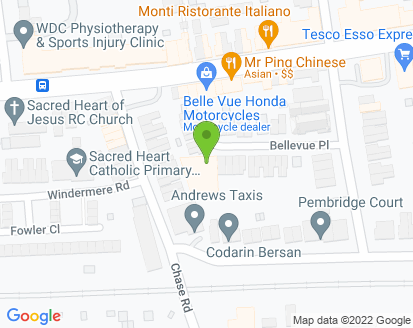 Map for Belle Vue Motors Ltd