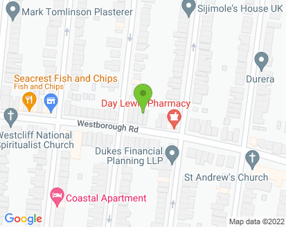 Map for Westcliff Test Centre
