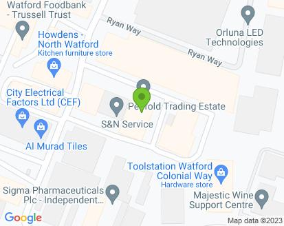 Map for S & B Motors (London) Ltd