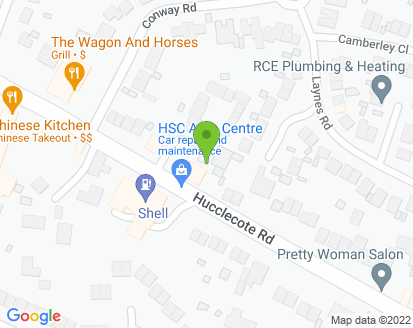 Map for HSC Auto Centre Ltd