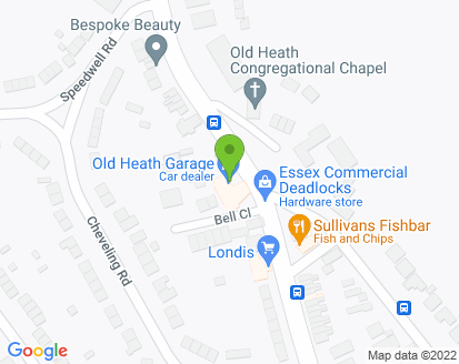 Map for Old Heath Garage
