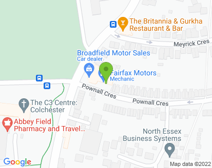 Map for Fairfax Motors Ltd