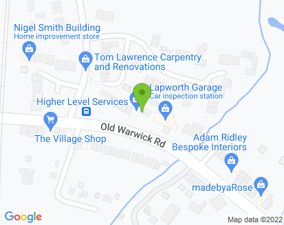 Map for Lapworth Garage