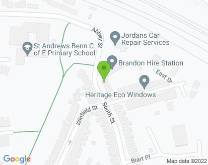 Map for Jordans Car Repair Services (Rugby)