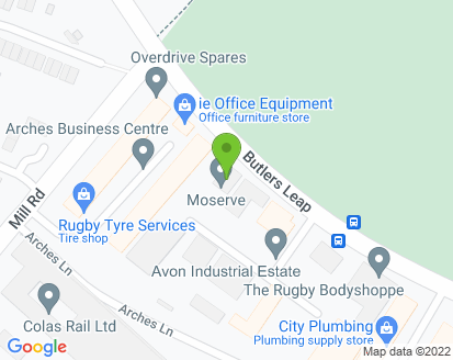 Map for Moserve (Rugby) Limited