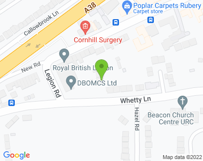 Map for Rubery Garage Services Ltd