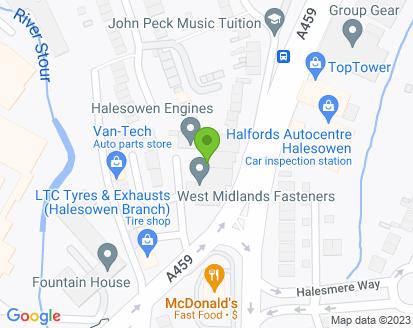 Map for Crestwood Motors (Eng) Ltd