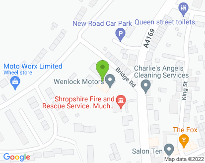 Map for Wenlock Motors Ltd