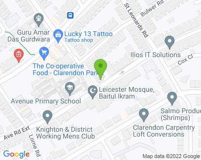 Map for Jacksons Garage (Leicester) Ltd