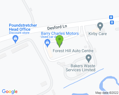 Map for Forest Hill Auto Centre Ltd