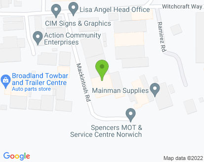 Map for Spencer's MOT & Service Centre Ltd