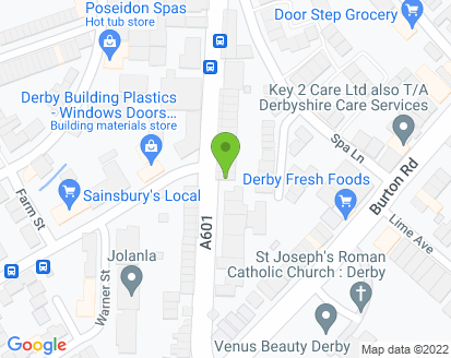 Map for Kam Servicing Derby