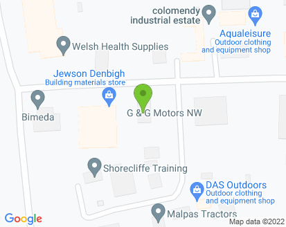 Map for G & G Motors (NW) Ltd