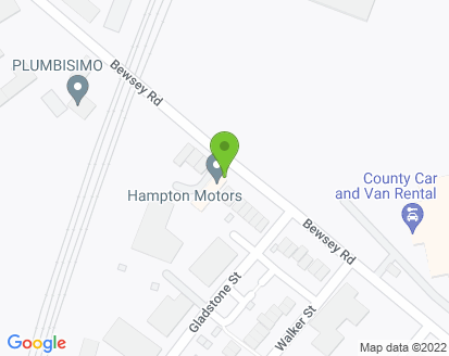 Map for Hampton Motors Ltd