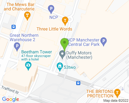 Map for Duffy Motors (Manchester) Ltd