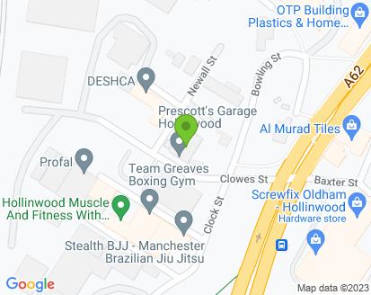 Map for Prescotts Garage Ltd