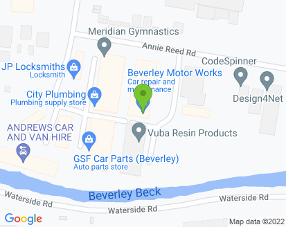 Map for Beverley Motor Works