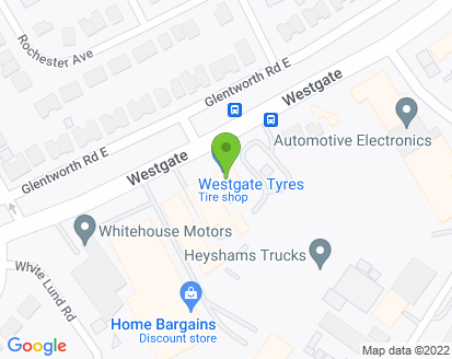 Map for Westgate Tyres