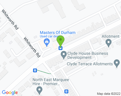 Map for Ian Thompson T/A Masters of Durham