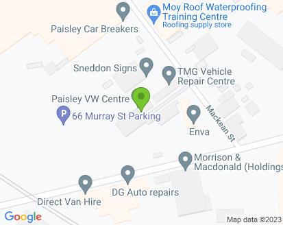 Map for Paisley VW Centre Ltd