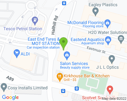 Map for East End Tyres & Exhausts