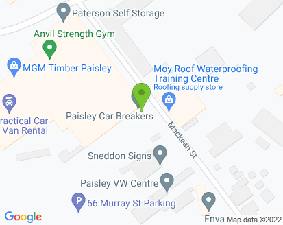 Map for Paisley VW Centre Ltd