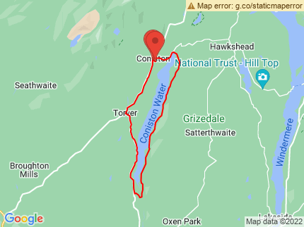 Route map preview for Coniston 14