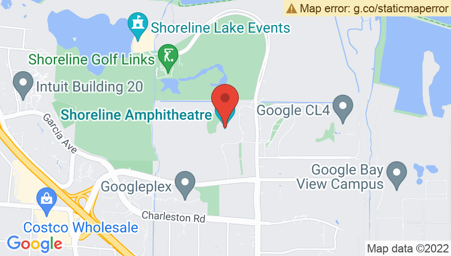 Map for Shoreline Amphitheatre