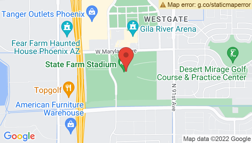 Map for University of Phoenix Stadium