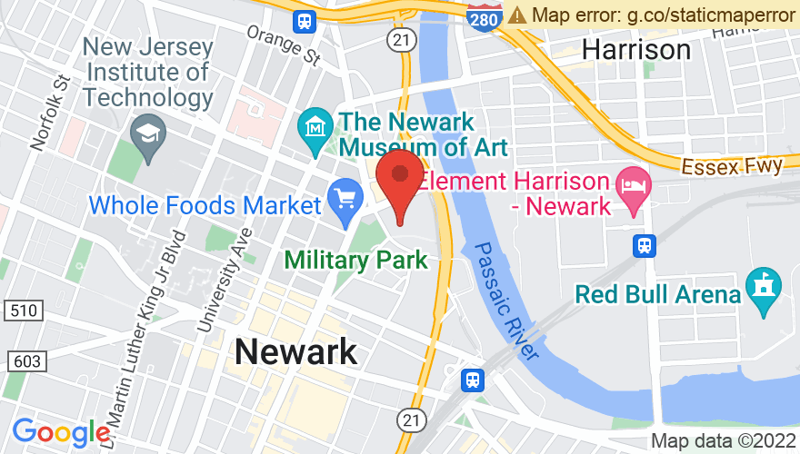 Map for Prudential Hall at NJPAC