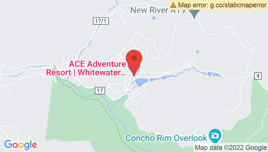 Map for Ace Adventure Resort