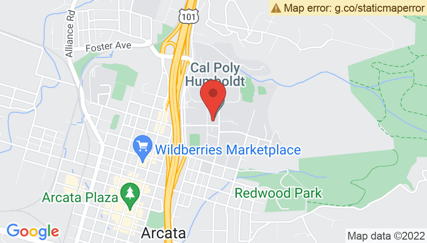 Map for Humboldt State University