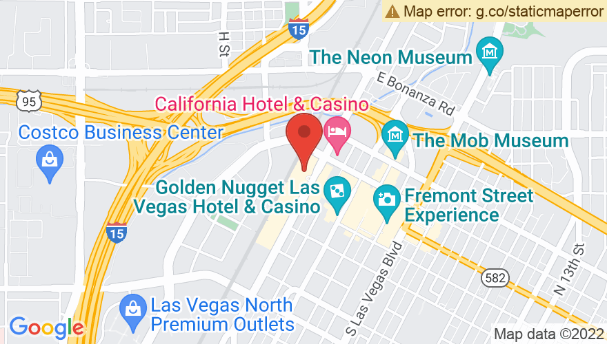 Map for Plaza Hotel and Casino