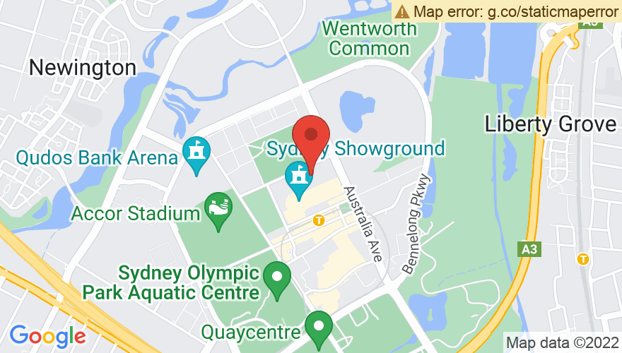 Map for Sydney Showground