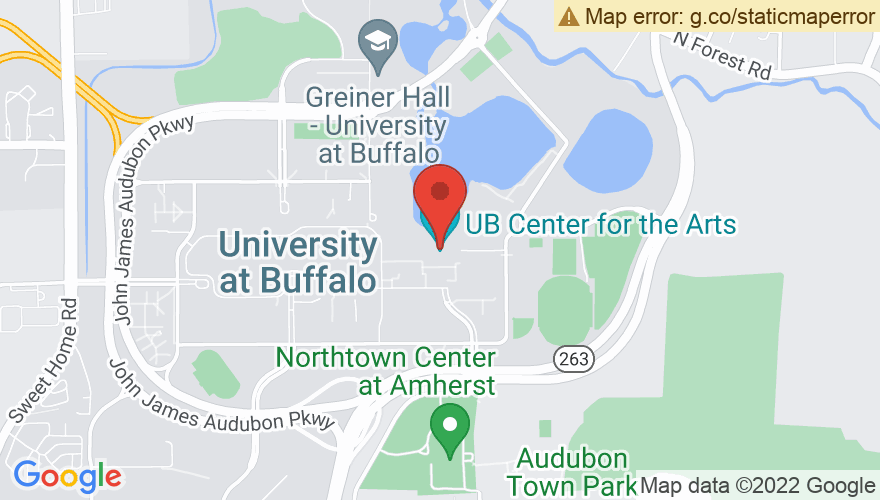 Map for University at Buffalo Center for the Arts