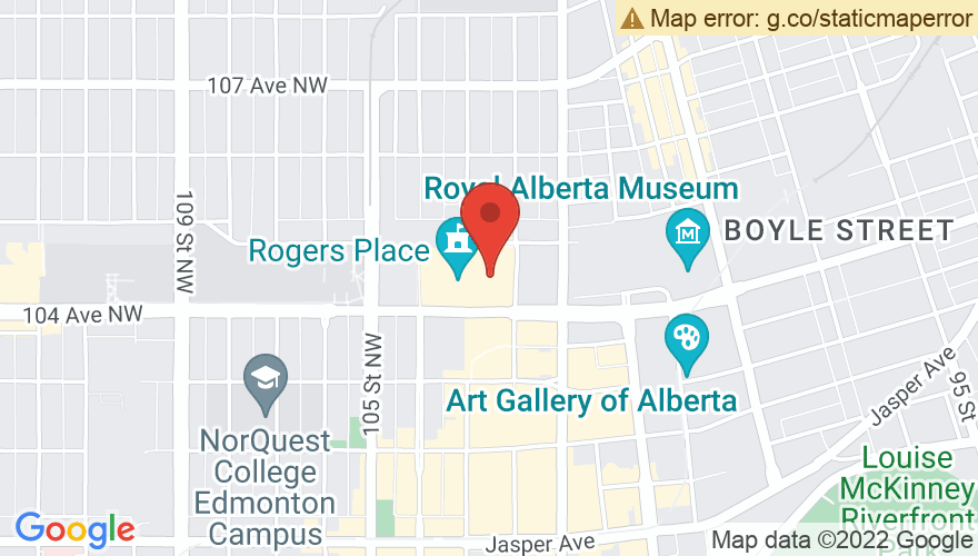Map for Rogers Place