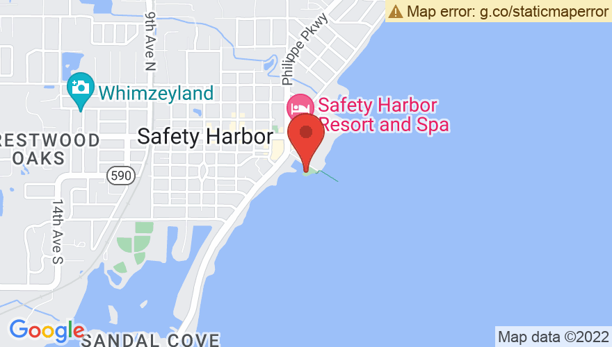 Map for Safety Harbor Waterfront Park
