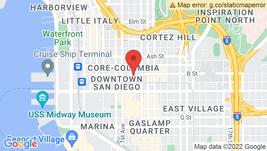 Map for San Diego Civic Theatre