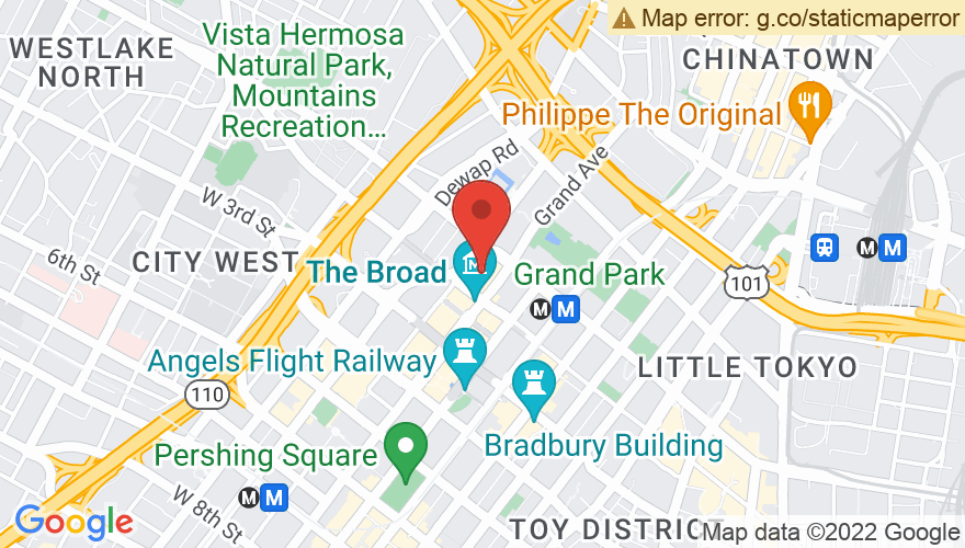 Map for Walt Disney Concert Hall