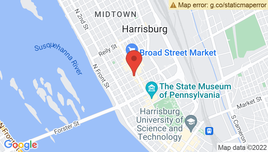 Map for Harrisburg Midtown Arts Center