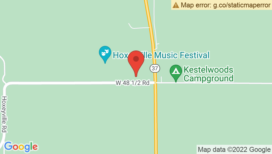Map for Hoxeyville Festival Site