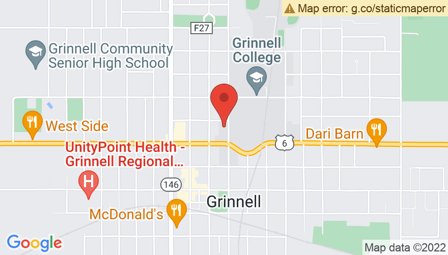 Map for Grinnell College
