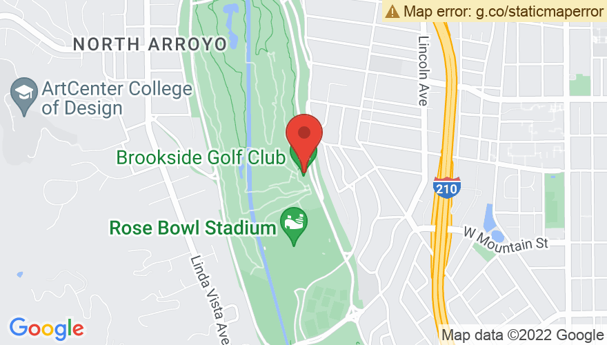 Map for Brookside at the Rose Bowl