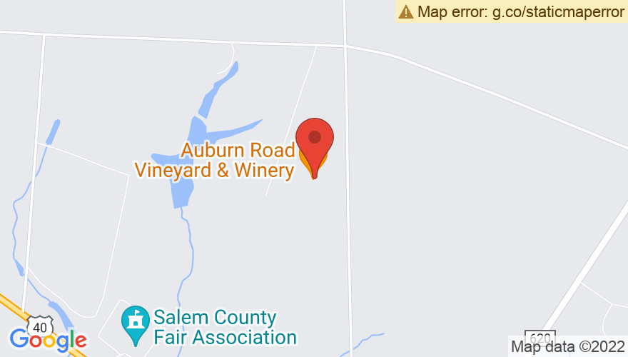 Map for Auburn Road Vineyard and Winery