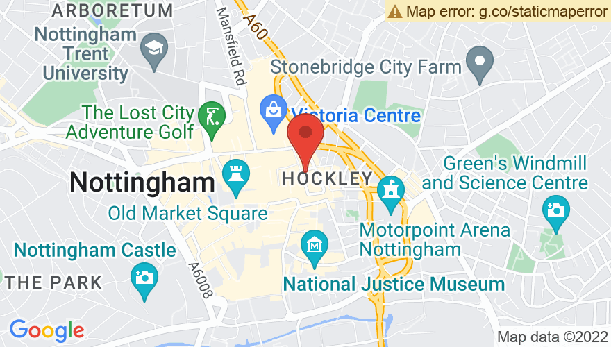 Map for Nottingham Arts Theatre