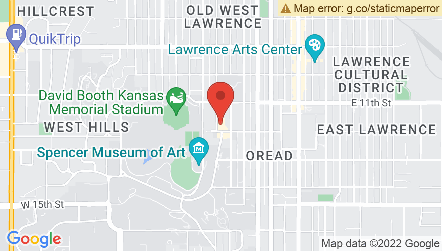 Map for The Oread Hotel- Nest On Ninth